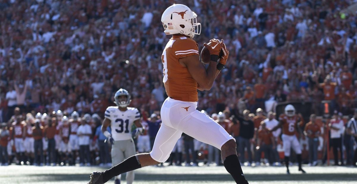 Texas' Collin Johnson hits career milestone in receiving yards