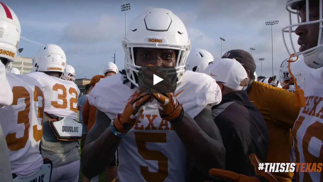 ce089399d920a WATCH  Texas  releases final hype video for its season opener