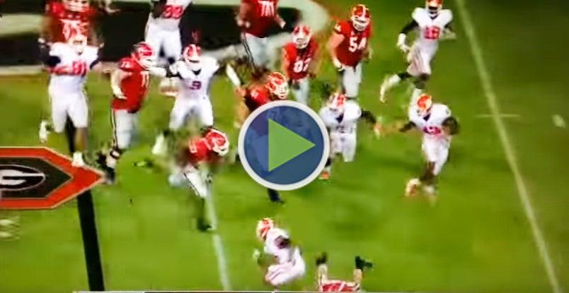 TBT  Nick Chubb s 1st career touchdown against Clemson 99a8337d2
