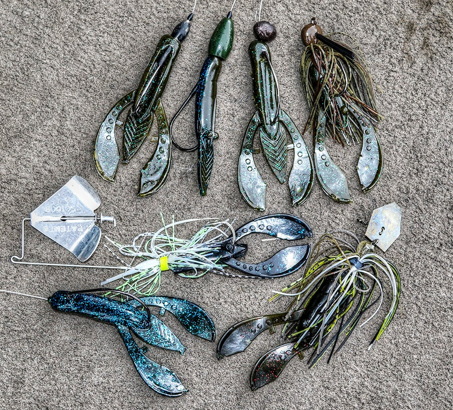 8 uses for soft plastic craws for bass fishing for Bed fishing for bass