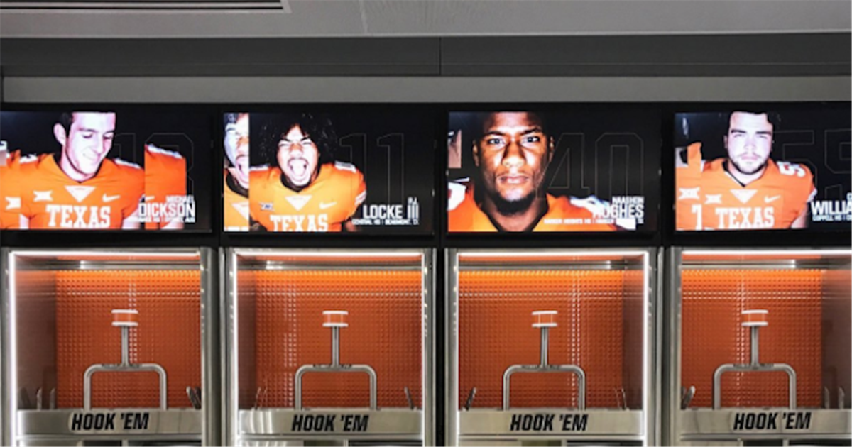 Photos: Texas Longhorns' new locker room is out of this world Horns247
