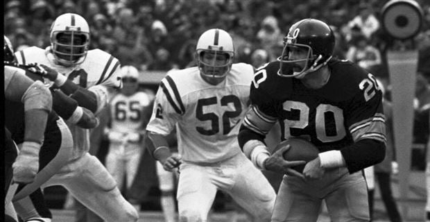 d3e02615ce3 Rocky Bleier vs. the Colts. (Photo  Pittsburgh Steelers)