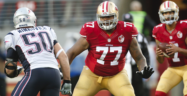 Trent Brown looking like early leader in left tackle battle
