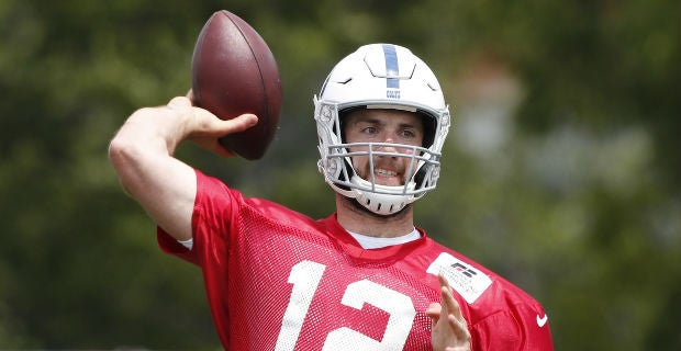 Andrew Luck offers positive update on injured shoulder