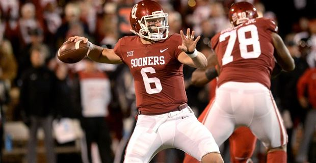 Video ou 39 s baker mayfield talks about bedlam at oklahoma for Mark schlereth t shirts