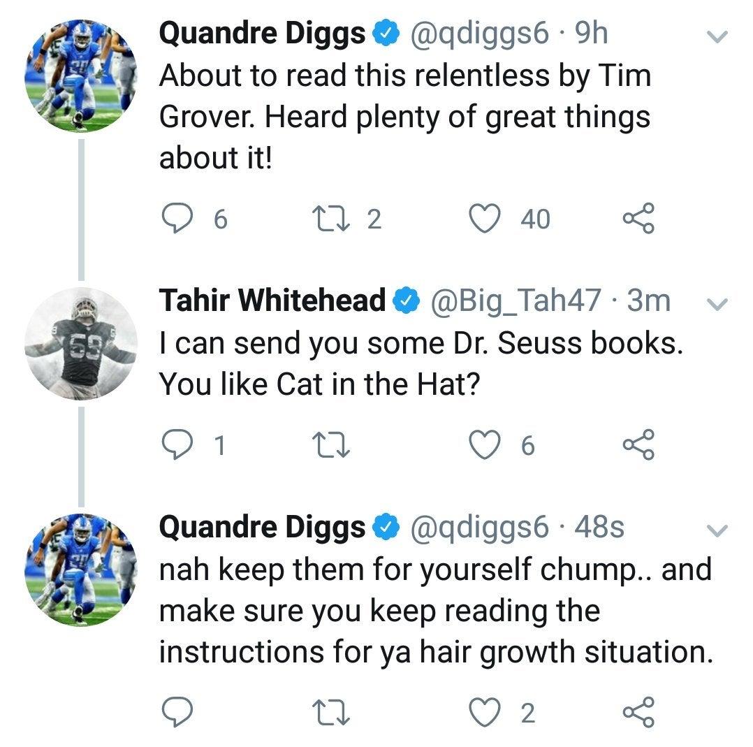 Diggs Goes Below The Belt In Insulting Tahir Whitehead