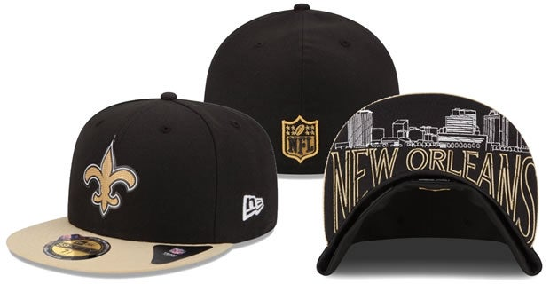 Here is what the 2015 Saints draft hats look like d628e4ae996