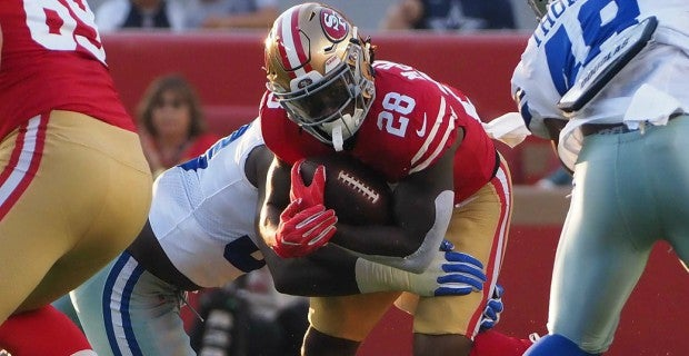 49ers RB Jerick McKinnon out for remainder of preseason