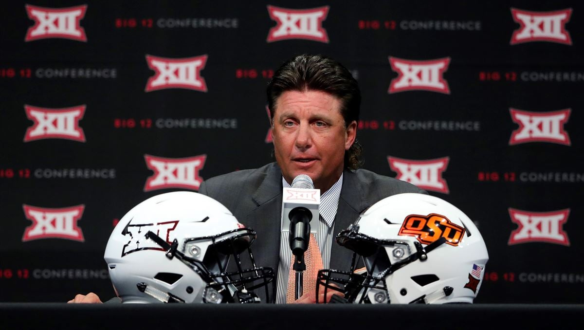 Oklahoma State's Mike Gundy rips reporter on Big 12 media call