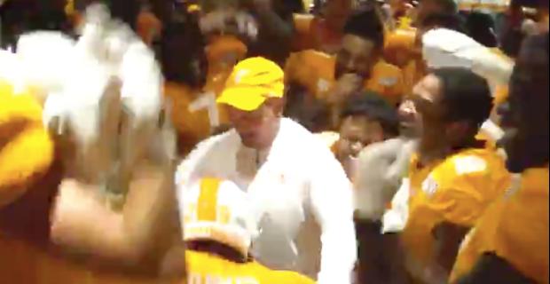 WATCH: Vols mob Jeremy Pruitt after win