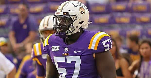 Chasen Hines LSU Tigers Football Jersey - White