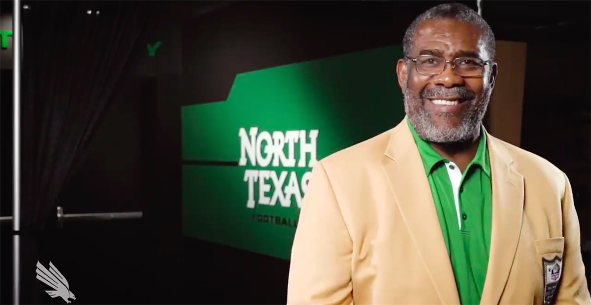 d8bf8a586da North Texas Athletics' 'Mean Joe' jersey reveal video goes viral