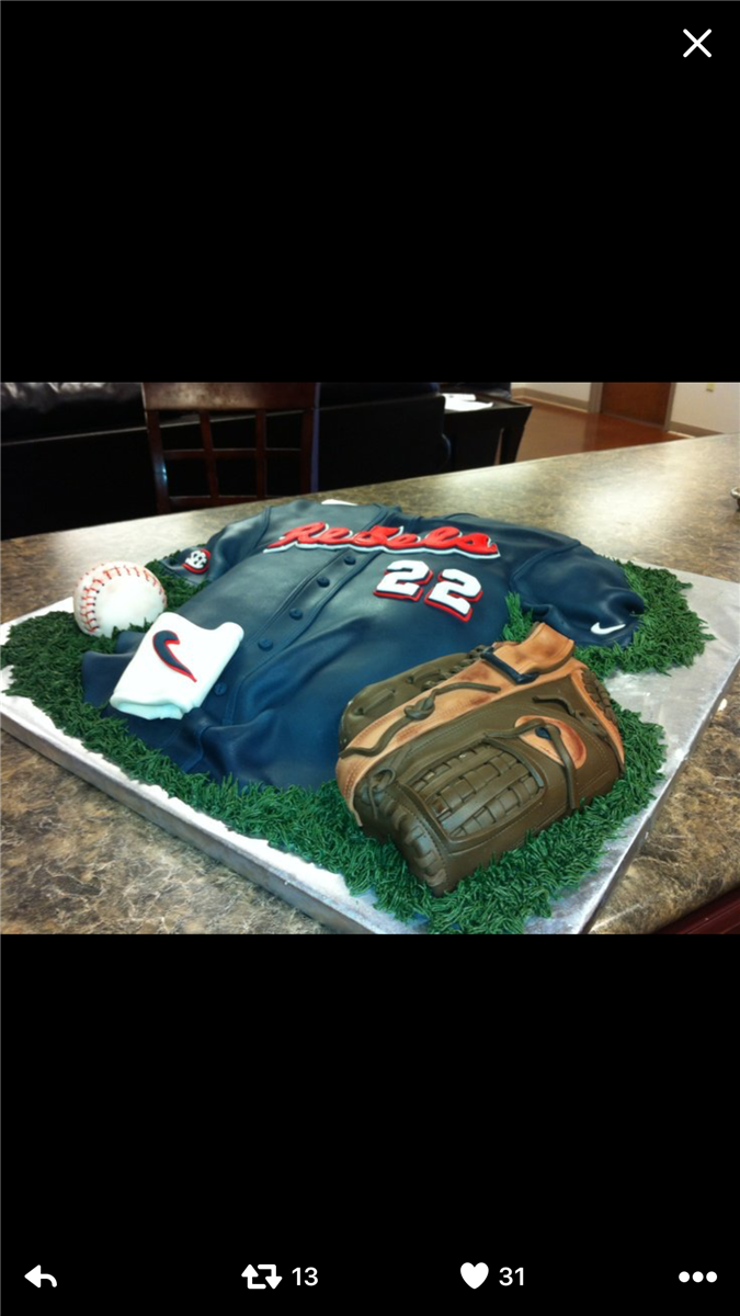 Swell Cool Ole Miss Baseball Cake Funny Birthday Cards Online Fluifree Goldxyz