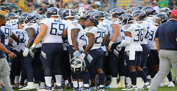 Titans release unofficial depth chart for Buccaneers game