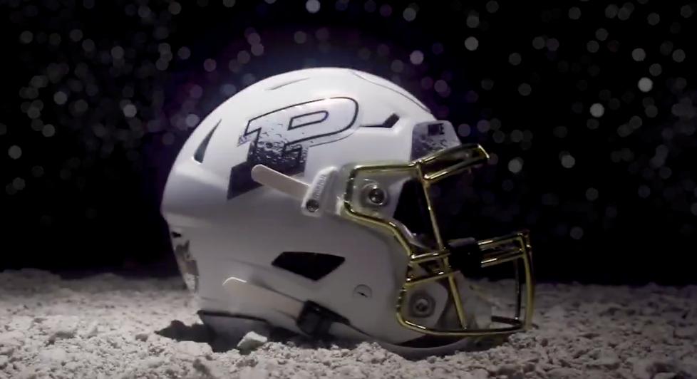 LOOK: Purdue releases space-themed alternate helmets