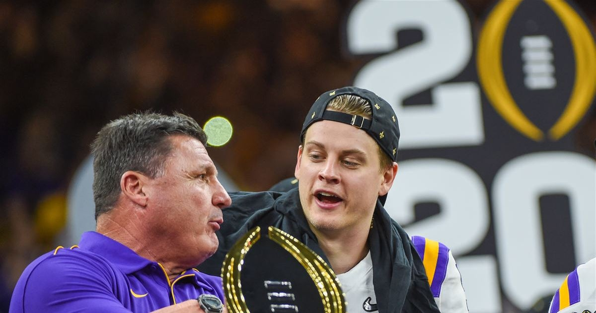 WATCH: Joe Burrow delivers his impersonation of Ed Orgeron