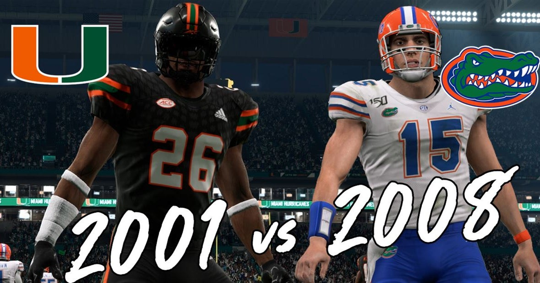 VIDEO: 2001 Miami Hurricanes vs. 2008 Florida Gators simulation