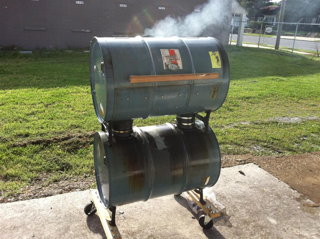 Kamado Joe & double barrel smoker for sale