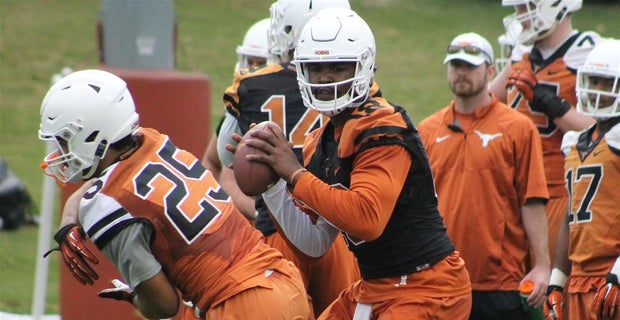 Charlie Strong On What Stands Out About Texas Top Three Qbs
