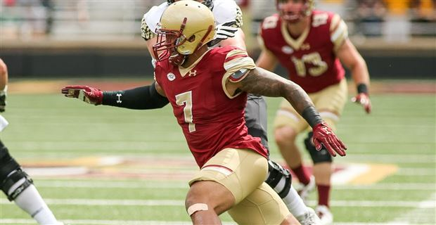 After dropping out of the first round of the 2018 NFL Draft, Boston College  football defensive end Harold Landry heard his name called about 30 minutes  into ...