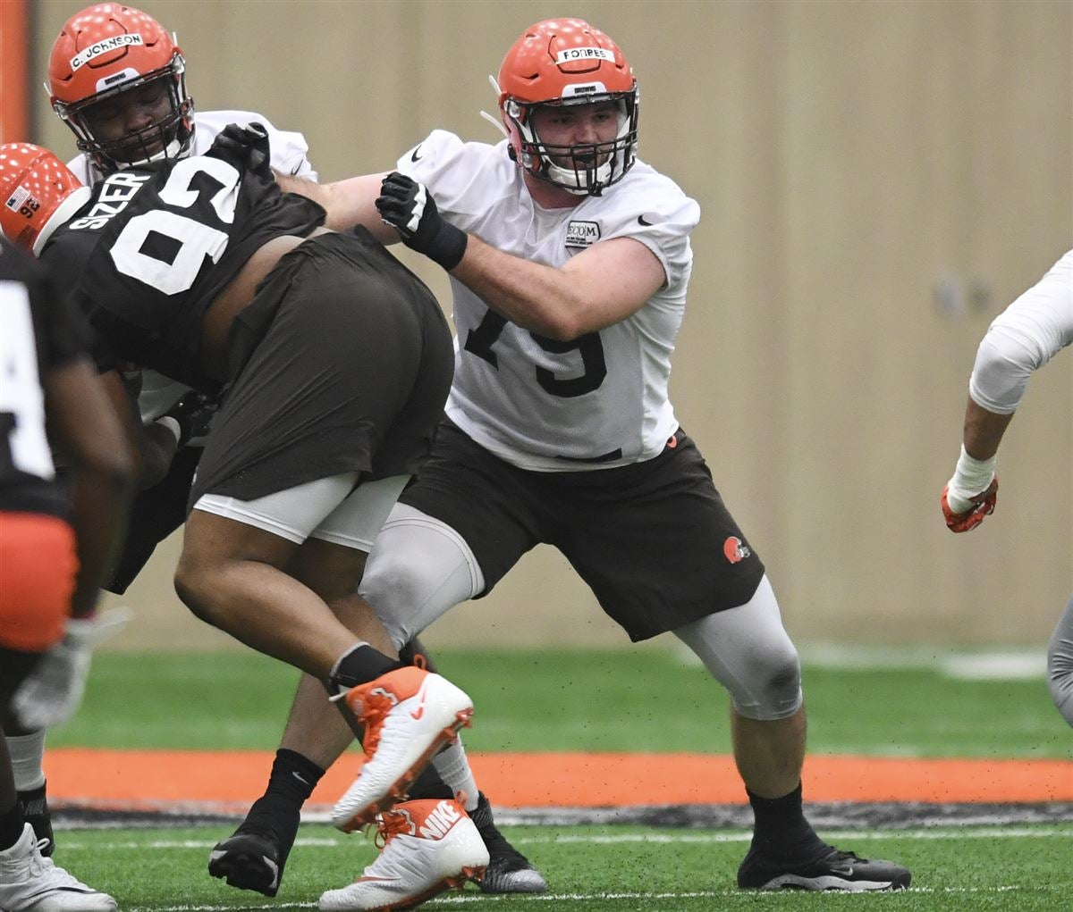 Kitchens: Rookie OL Drew Forbes is in the mix at Right Guard
