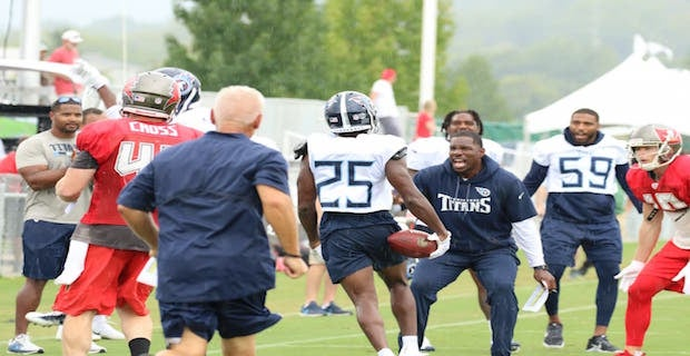 Highlights of Titans and Buccaneers 2nd joint practice