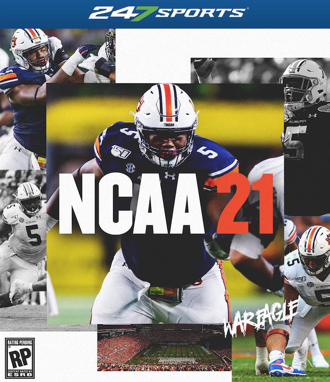NCAA Custom Sports for game Football 21 covers EA