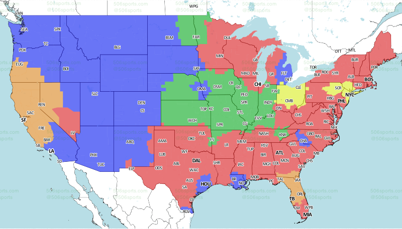 LOOK Coverage Map Released For RaidersBuccaneers Game - Us gang map