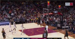 Watch: Strong ball movement results in Larry Nance Jr. dunk
