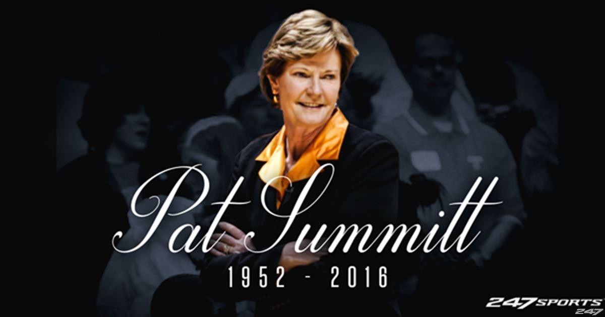 Legendary Tennessee Lady Vols basketball coach Pat Summitt ...