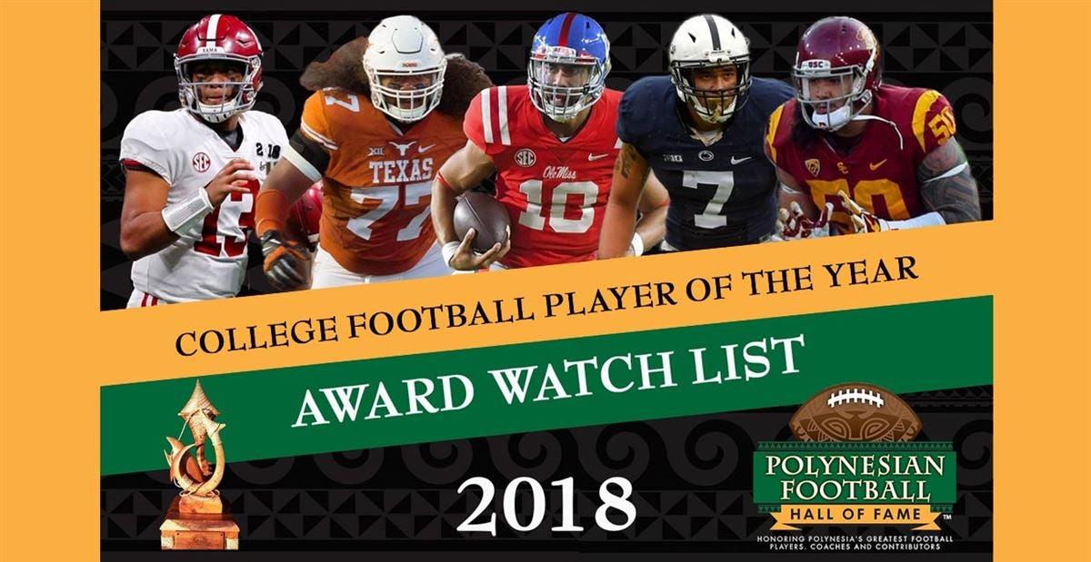 2018 Watch List for the Polynesian College Football POY Award