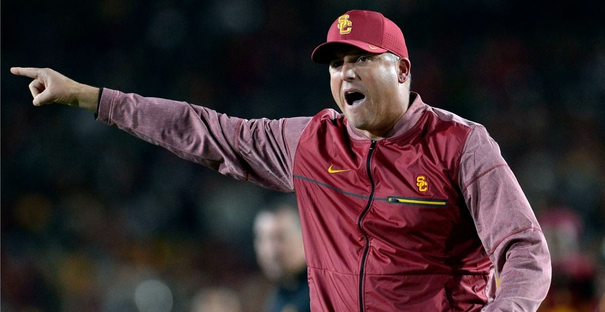 USC reportedly in no rush to make decision on Clay Helton