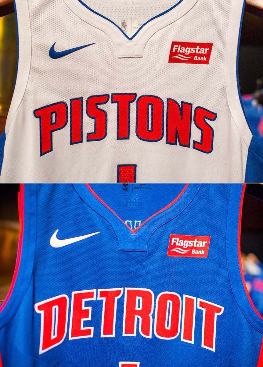 The Detroit Pistons and Flagstar Bank have announced a 1 p.m. news  conference where Flagstar will be named the team s jersey ad sponsor. 67b7fddd4