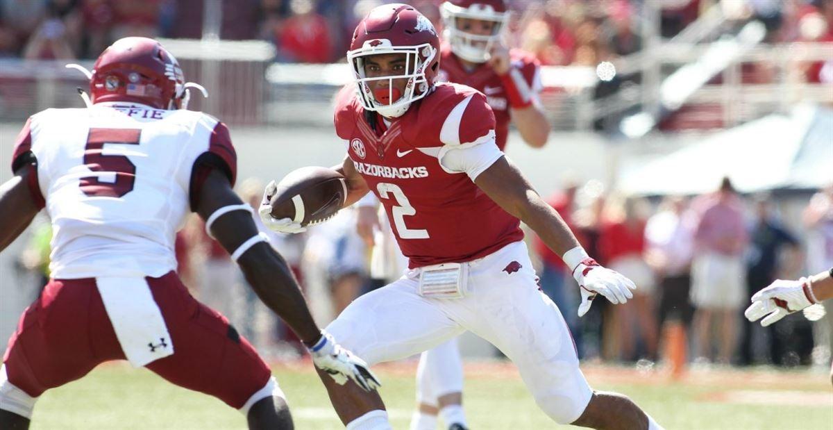 Chase Hayden Arkansas Razorbacks Football Jersey - Red