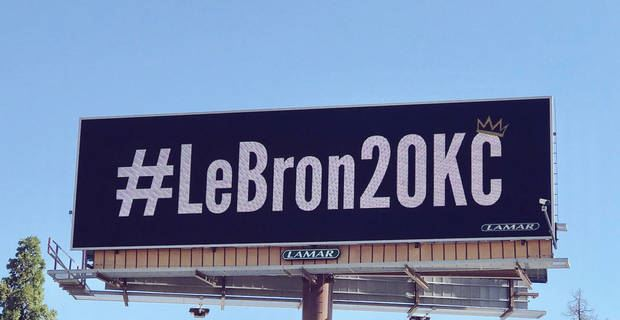 9f15f2cbb35 Billboards encouraging LeBron to join Thunder pop up in OKC