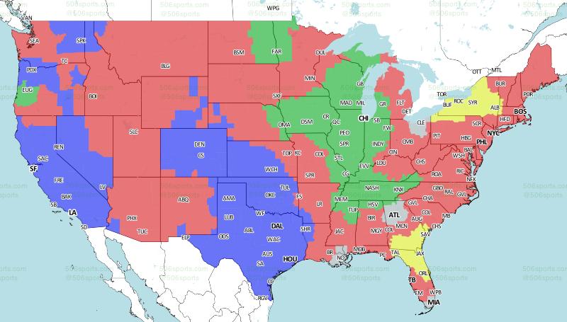 Cincinnati Bengals-Baltimore Ravens coverage map - CBSSports.com on