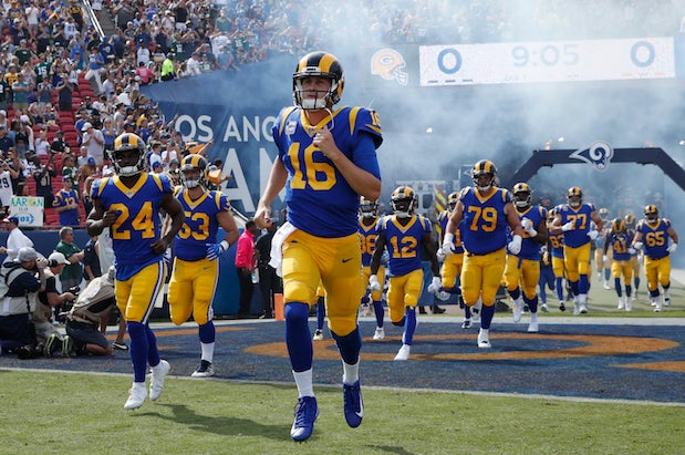 939e3f2b4 Rams announce they ll wear throwbacks in Super Bowl LIII