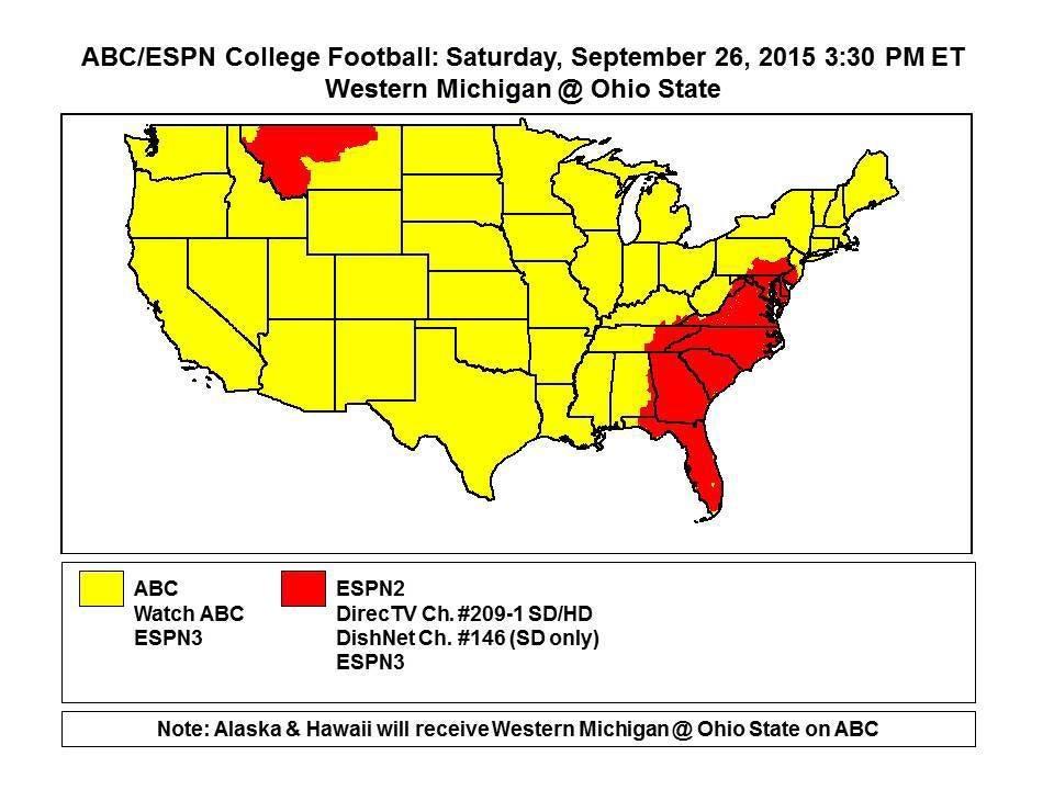 Michigan And Ohio Map.Game Data Western Michigan At Ohio State