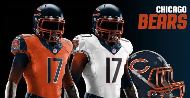 Redesigned uniforms for all 32 NFL teams in 2018 a6b6d1653