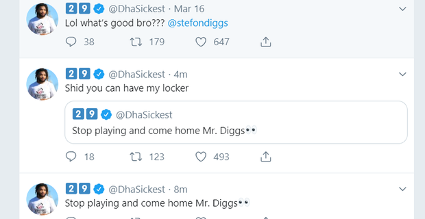 newest cd4e3 84ad8 Stefon Diggs' brother posts photo of him in Redskins jersey