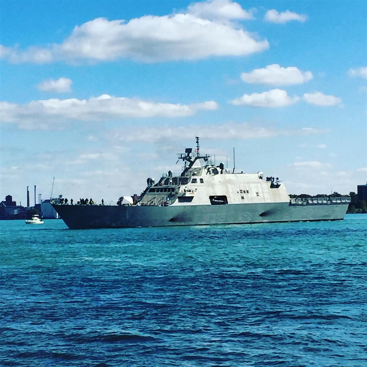 LCS-7 USS Detroit arrived today!