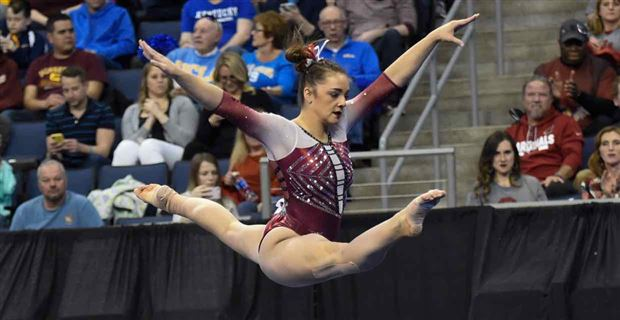 af89393b95a OU Women's Gymnastics edged by UCLA for National Title