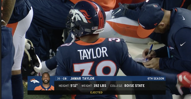 best service 619fc b6a8a Jamar Taylor disqualified from Week 15 game vs. Browns