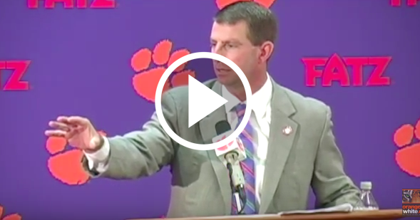 Dabo Swinney blasts ESPN reporter who asks about 'Clemsoning'