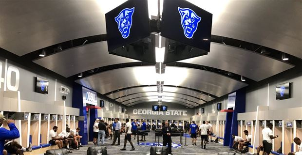 Georgia State Football Unveils New Locker Room at GSU Stadium