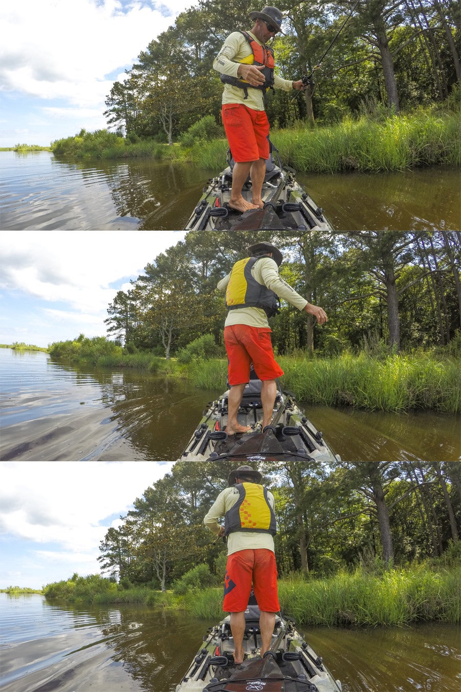 Master stand up fishing from a kayak for Stand up fishing kayak