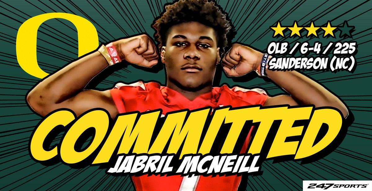 Top247 LB Jabril McNeill commits to Oregon Ducks