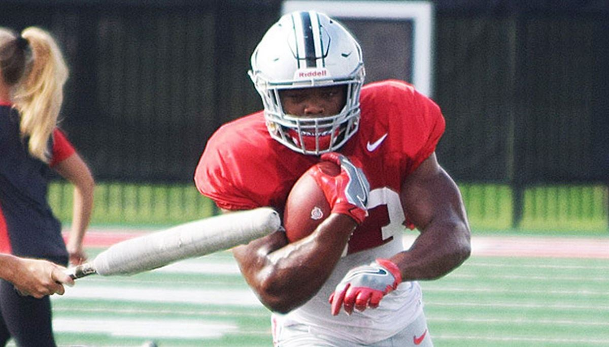 Watch: OSU's quarterbacks, running backs at practice