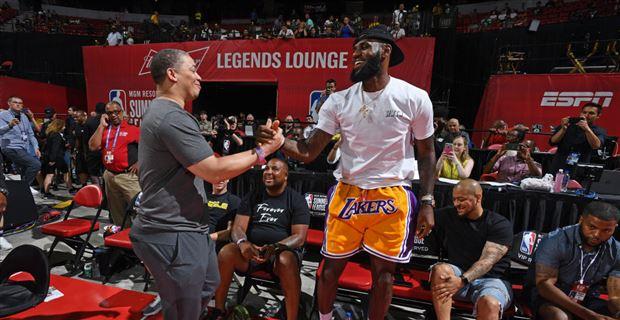 706c4da38b0 LeBron James wore  500 Lakers shorts to Las Vegas Summer League