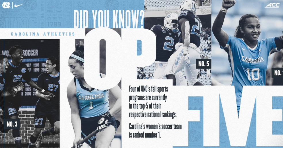 UNC Has Four Top-Five Teams in the Nation